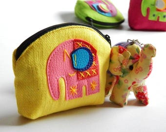 10 little elephant coin purses mixed color - Gift