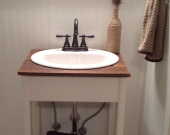 Farmhouse Reclaimed Wood and Pine Bathroom Vanity