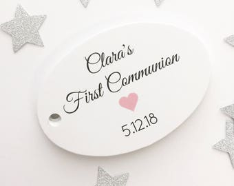 First Communion, Baptism Favor Hang Tags, Christening Favor Hang Tags (OT-305)