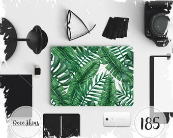 """Palm leaves notebook laptop skin decal vinyl 3M quality Universal skins  10"""" 12"""" 13"""" 14"""" 15.4"""" 15.6"""" 17"""""""