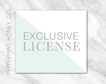 Exclusive License for 1 x Specified Logo