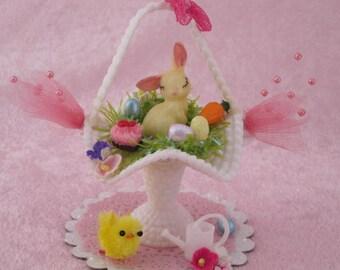 Miniature Easter Basket Diorama