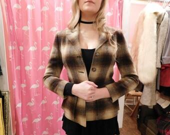 1980 Ralph Lauren Plaid jacket  size 4  Plaid  brown