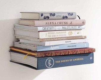 Floating Bookshelf, Invisible Bookshelf, Modern Shelf, Floating Bookshelves, Upcycled Bookshelf, Bookshelf, Modern Floating Bookshelf