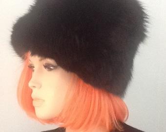 Hat,Mink,Abraham and Straus,Bucket Hat,60's Hat,70's Fur Hat  xxxxx SALE xxxxx