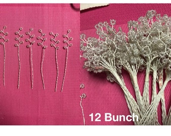 Beaded Stems floral Sprays, Bouquet accents for Wedding supplies,Party Supplies, Made in Korea.