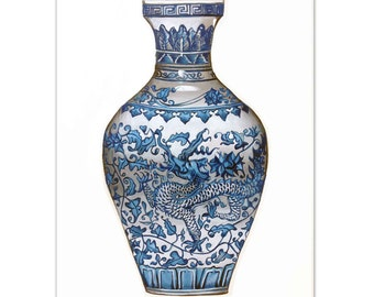 China Vase Watercolour painting - Limited edition prints (100 Only)