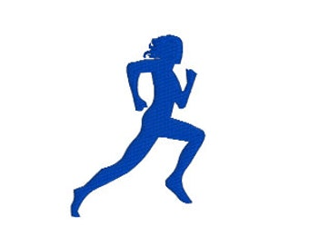"""BUY2GET1FREE - 2"""", 2.5"""", 3"""", 3.5"""", 4"""" Running Woman Machine Embroidery Design - Track and Field, Marathon, Jogging, Running, Cross Fit"""