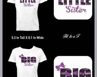 Lil Sister Big Sister Sibling T-Shirts