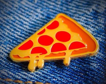 Golden Pizza Slice Enamel Pin