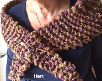 Chunky knit thick triangular scarf