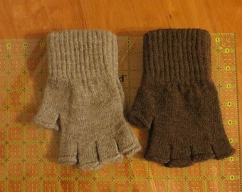 Alpaca Fingerless Gloves Small