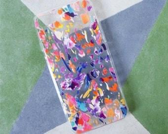 Transparent iPhone 6 case, iPhone 7 case, multicoloured design, animal pattern, phone case, modern print