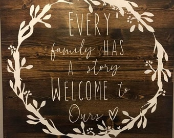 Family Story Sign