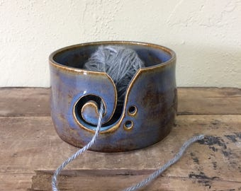 Hand Thrown Yarn Bowl