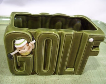 Golf Planter,Enesco Imports, Green Golf Planter,Father's Day,Sports,Golf