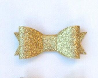 Glitter Bow Hair Clip or Headband (Any Color)