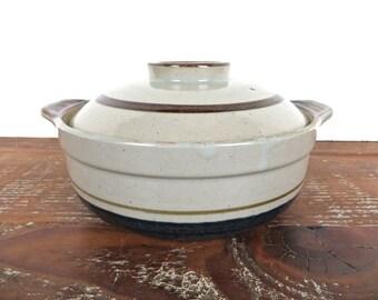 Otagiri Mariner Covered Casserole, Vintage Otagiri  Baking Dish From Japan, Blue Mariner Stoneware Baker