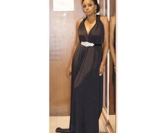 Ejiro Amos Tafiri Ralia Dress (Black)