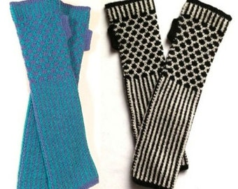 100% Baby Alpaca Arm Warmers/Wristlettes - Holiday Gift idea for Birthday, Christmas and Hanukkah!