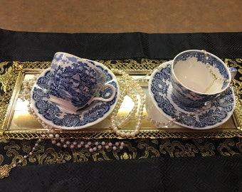 Two sets of Made in England Teacup and Saucer