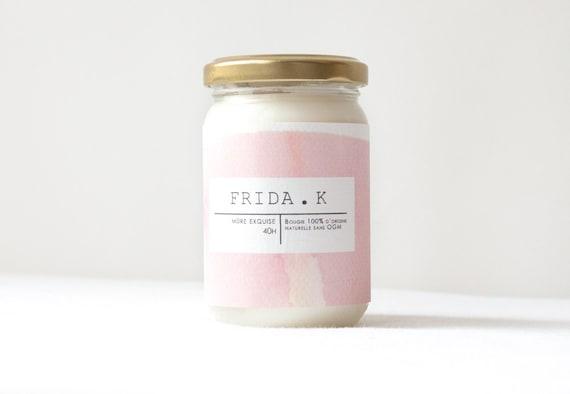 Bougie parfumée Frida.K-- Mûre exquise -- 100% d'origine végétale - fabrication artisanale