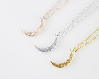 Tiny Crescent Moon Necklace Dainty and Delicate Necklace Birthday Gift Wedding Jewelry Bridesmaid gif