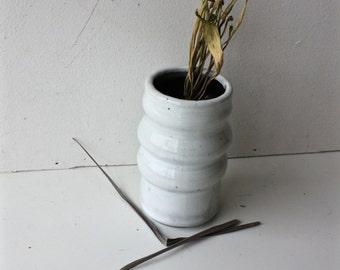White Tumbler with Black Interior