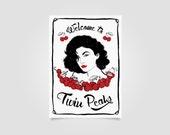 Twin Peaks Print, audrey horne print, twin peaks art, wall art, art print, sherilyn fenn