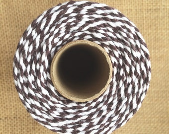 10m Bakers Twine 12ply 2mm 100 % Cotton Brown Crafts British Made