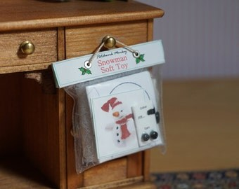 Dolls House Miniature SnowmanToy Kit