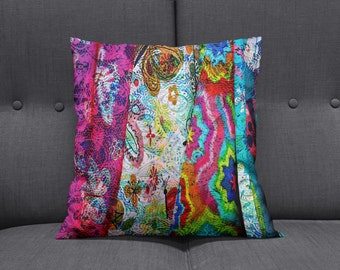 Throw Pillow Boho Gypsy Rags  Accent Pillows