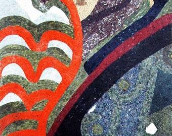 Abstract Leaves Handmade Mosaic Art