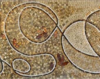 Mosaic Border - Swirl
