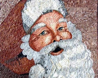 Santa Clause Mosaic Artwork