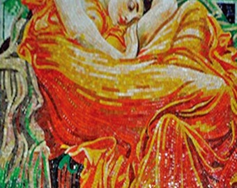 """Frederic Leighton  """"Flaming June"""" - Mosaic Reproduction"""