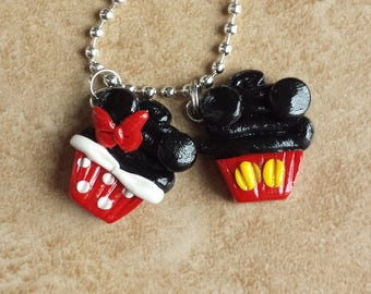 Mickey Mouse and Minnie Mouse Inspired Cupcake Charms