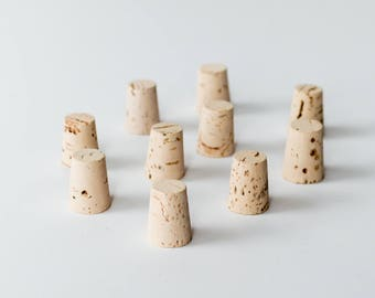 10 Large Corks, Size 9 - Natural  Cork Stoppers