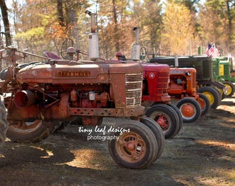 Farmall and John Deere Tractors PLUS ready for Tractor Pull Fine Art Photograph 5x7 8x12 11x16