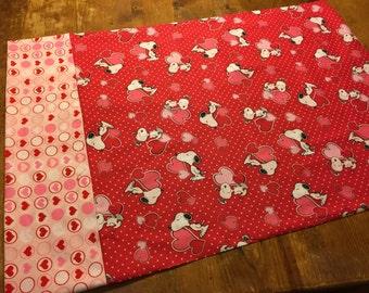 Valentine Snoopy Pillowcase