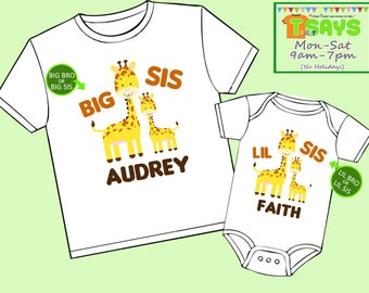 Big Bro Lil Bro - Big Bro Lil Sis - Big Sis Lil Sis - Big Sis Lil Bro - Sibling Shirts - Baby Shower Gift