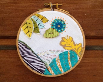 Embroidery beautiful landscape
