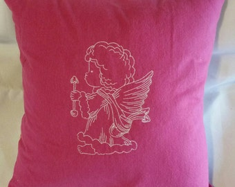 Christmas angel  pillow cover  embroidered handmade pillow cover