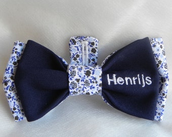 Customizable Button-Up Bow Tie with Embroidery