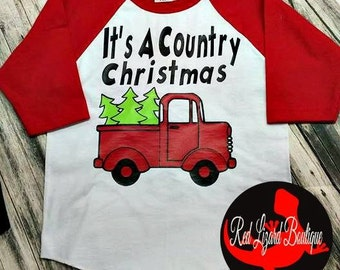 Kid's Country Christmas Shirt
