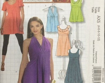 McCalls Pattern 6031 Misses' Tops and Tunics Size 4 - 12