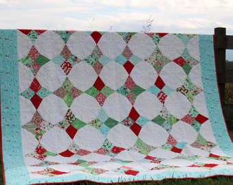 Snowbirds Christmas Quilt/Christmas Decor/Holiday Decor/Christmas Wall Hanging/Full/Queen Christmas Quilt