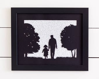 Fathers Day Gift, Mother Son Art, Mother Daughter Art, Father Daughter Art, Family Sign, Gift for Mom, Gift for Dad, Gift for Parents
