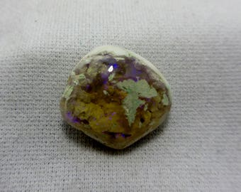 Australian Opal, Fire Opal, Scorpio, Opal, Libra, Cabochon, Fertility, Solid Opal, Opal Gemstone, Protection Stone 16 x 16 mm 9 Carats #127