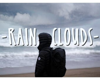 80 Rain Clouds Photoshop Overlays: Heavy Dark Skies Photo Layer, Dark Overcast Sky Effect Backdrops for photographers, Beautiful Storm